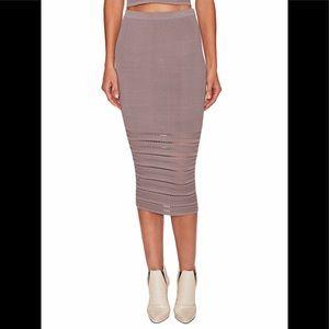 Ronny Kobo Darling Skirt Row Ottoman steel small